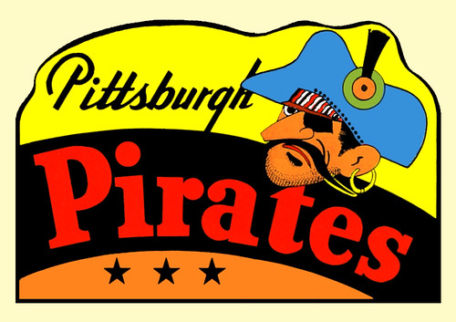 1960 Pittsburgh Pirates Decal