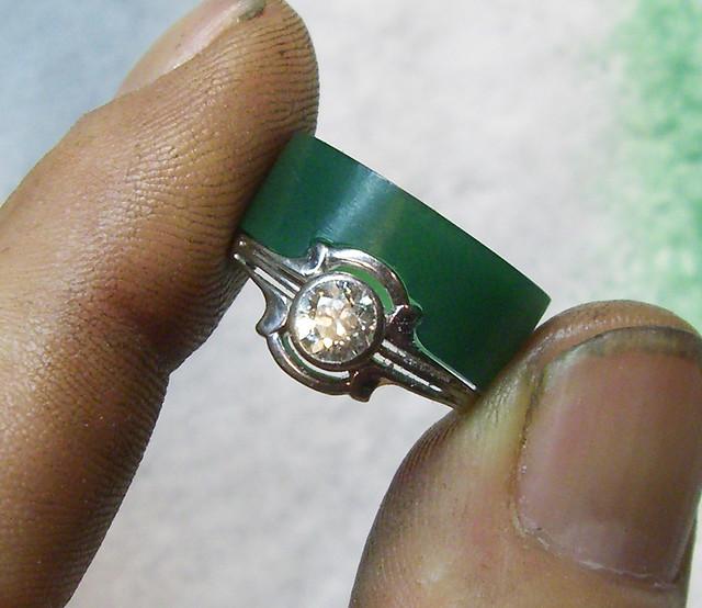 14K Paisley Diamond Wedding Ring / WIP / 4