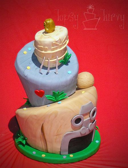 Fine Indiana Jones Birthday Cake Topsy Turvy Finished Imtopsytu Flickr Funny Birthday Cards Online Inifodamsfinfo