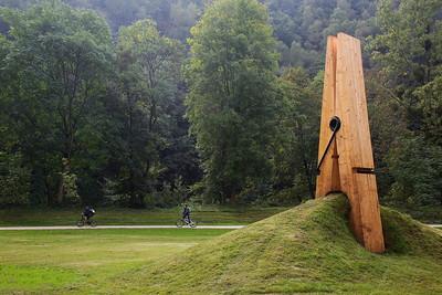 Exposition d'Art contemporain dans le parc de Chaudfontaine (Belgique)