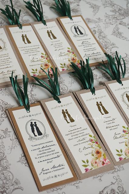 Segnalibri segnaposto Jane Austen - Vintage Bookmarks placeholders