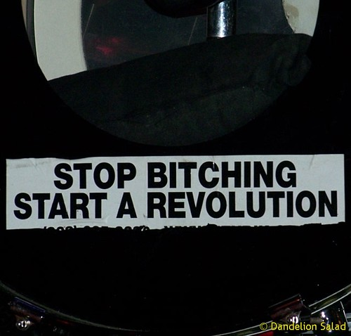 """Stop Bitching - Start a Revolution"" 