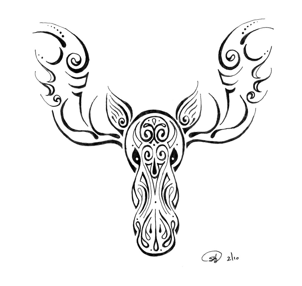 Moose Tattoo A Friend Of Mine Is Leaving Alaska And Wanted