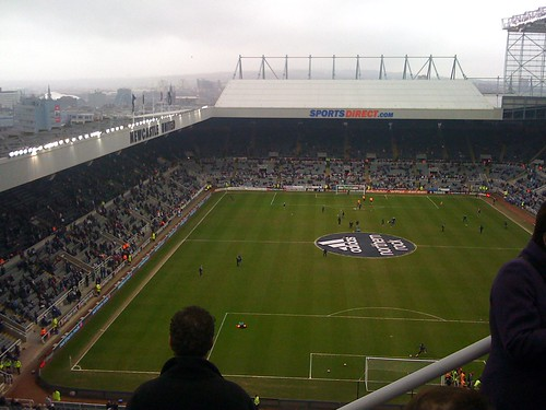 View over St James's Park for Newcastle United versus Barnsley   by Ben Sutherland
