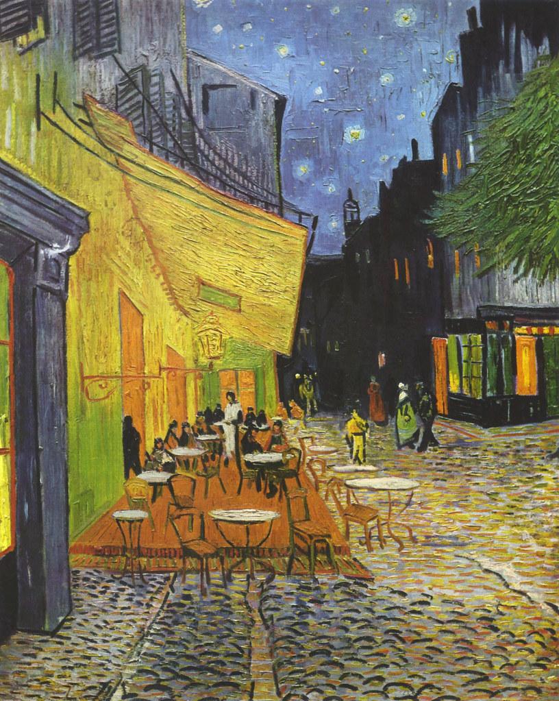 Vincent Van Gogh Terrasse Du Café Le Soir Place Du Forum