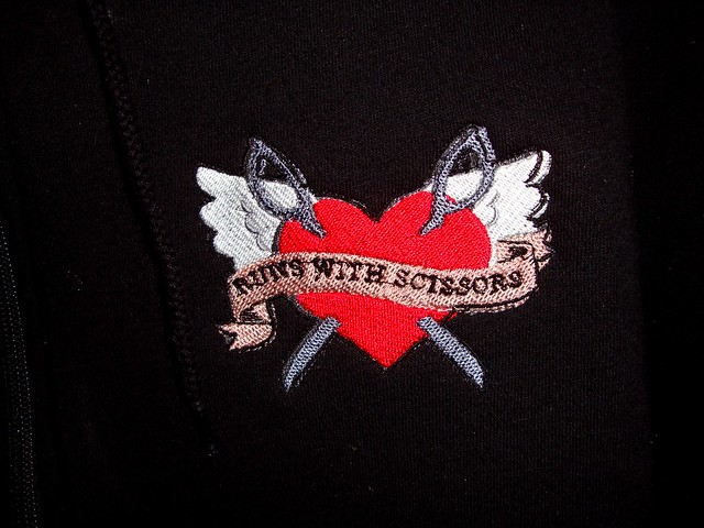 Close up of hoodie design