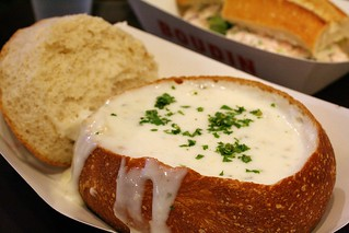 Clam chowder in a sourdough bread bowl | by Marit & Toomas Hinnosaar