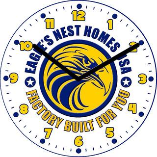 Eagle's Nest Homes USA Clock | by customclockface