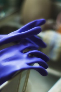 Magic Purple Dishwashing Gloves
