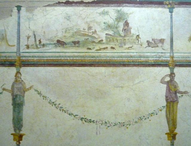 Fresc de la vil·la de la Farnesina, s. I a.C., Museo Nazionale Romano, Palazzo Massimo (1)