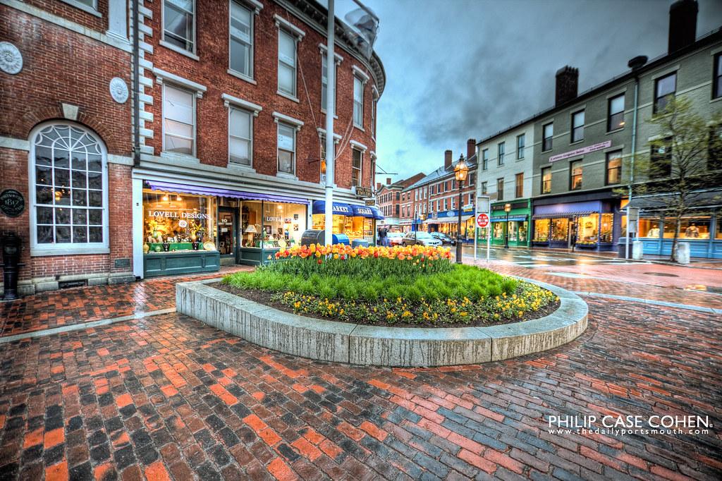 Market Square in the Rain by Philip Case Cohen
