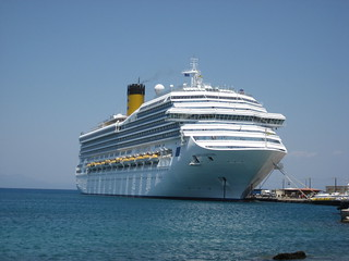 The Costa Fortuna cruise ship at Rhodes, Greece 2008