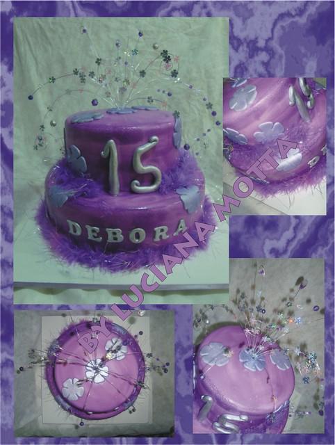 Fantastic Bolo Lilas 15 Anos Lilac 15Th Birthday Cake Luciana Motta Birthday Cards Printable Riciscafe Filternl
