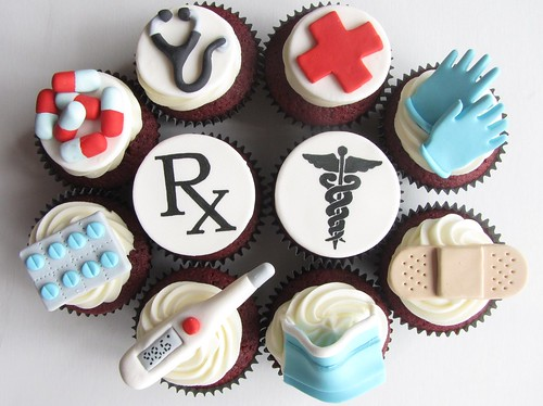 Doctor Themed Cupcakes | by clevercupcakes
