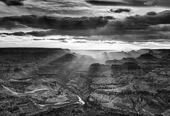 Grand Canyon Sunset from Lipan Point Overlook   by Byron O'Neal