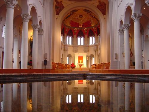 reflection water louisiana catholic churches altar monastery font catholicchurch mirrorimage sanctuary covington holywater mywinners