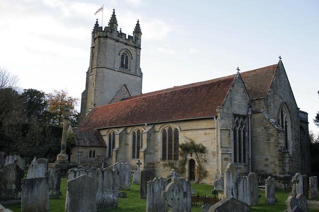Village Church @Dusk - chiddingstone