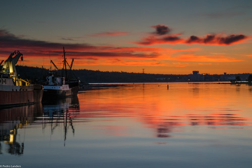 novascotia liverpool mersey sunrise boat water river