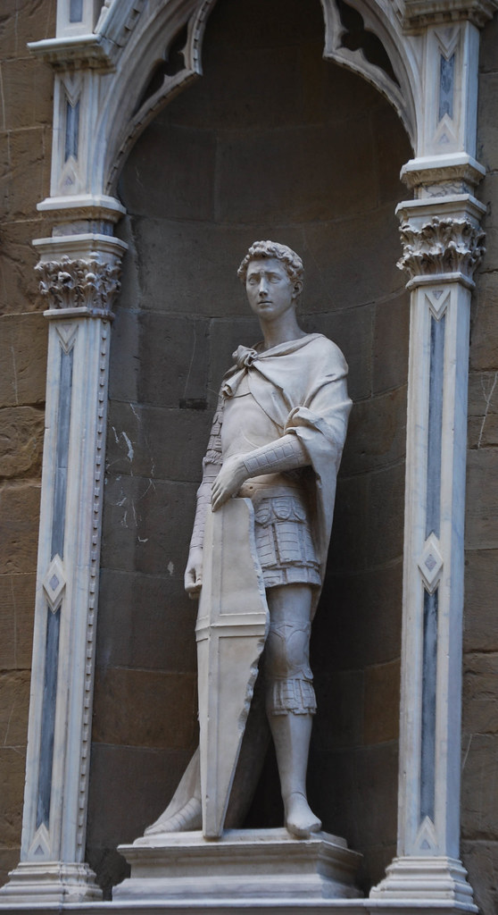 Life size Saint George Marble Sculpture By Donatello