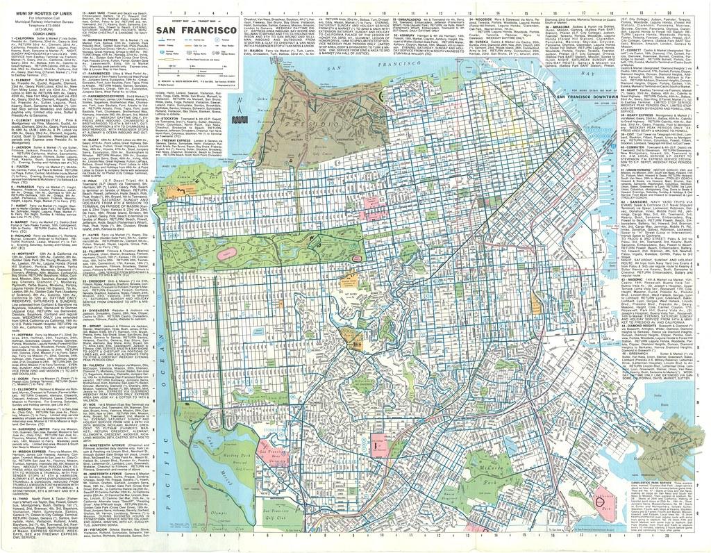 Ride the Muni: Street Map and Transit Map of San Francisco ...