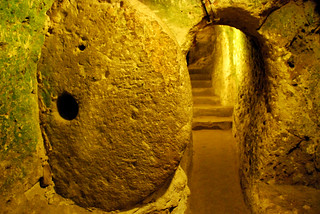 rolling door, derinkuyu underground city, cappadocia | by hopemeng