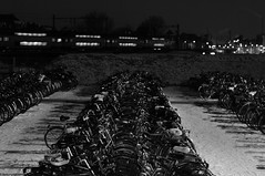 train and bicycles