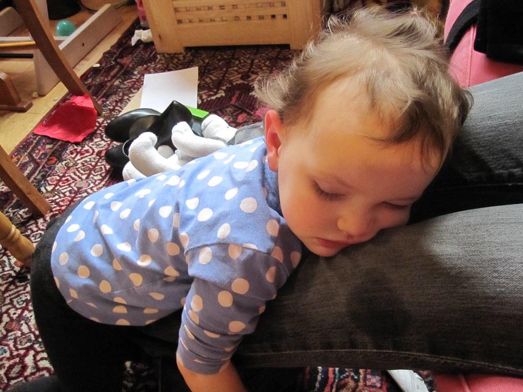 Toddlers sleep anywhere