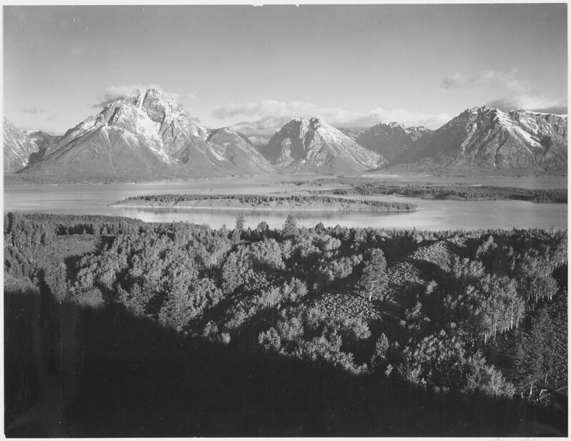 "Mt. Moran and Jackson Lake from Signal Hill, Grand ""Teton National Park,"" Wyoming."