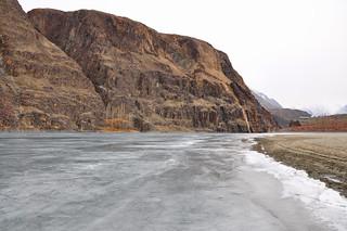 Frozen Khalti Lake