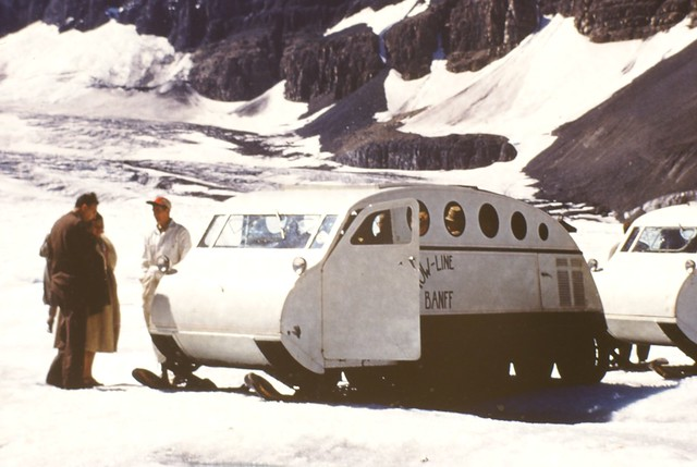 Columbia Icefield - Snow Coach Detail - 1955 | Detail of the