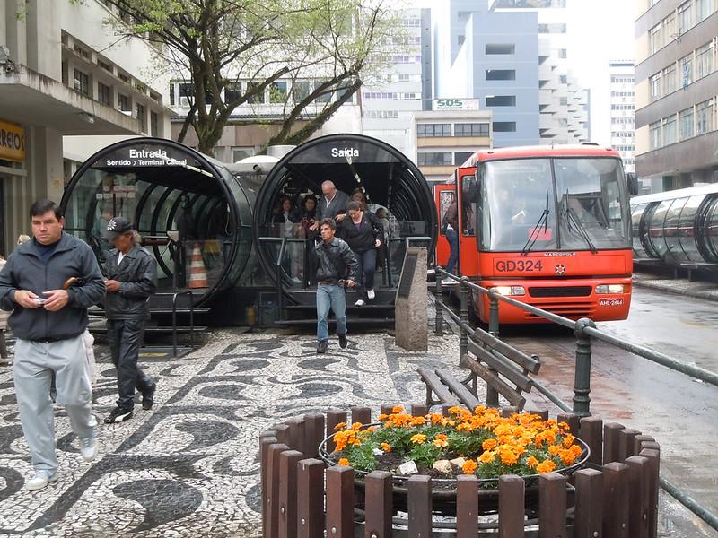 The Famous Curitiba's Public Transportation System - Curitiba, Brazil