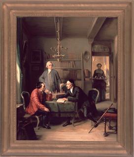 Lavater and Lessing Visit Moses Mendelssohn (1856) by Moritz Daniel Oppenheim