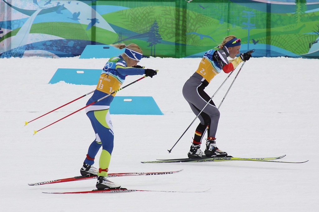 Finland's Ritta-Liisa Roponen chases Germany's Miriam Goss… | Flickr