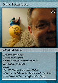 Nick Tomaiuolo's Librarian Trading Card
