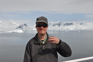 A toast at the furthest point south on our antarctic trip: below the Antarctic Circle! | by richard0428
