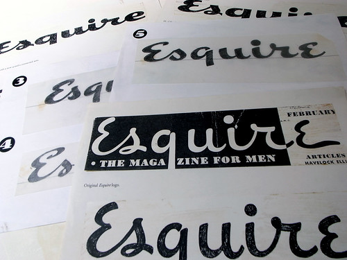 Esquire Logo Process by Jim Parkinson | In FontCast's ...