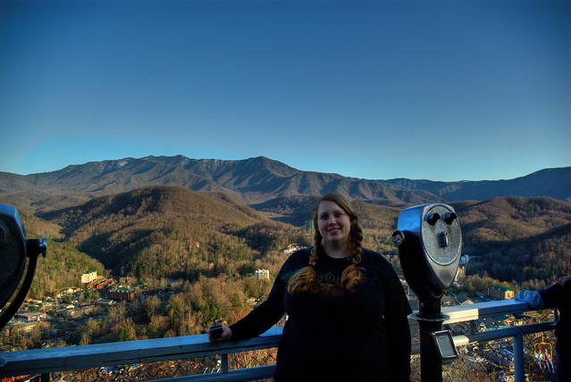 Alexis Lienhart at Gatlinburg Ski Lift Overlook, Sevier Co, TN