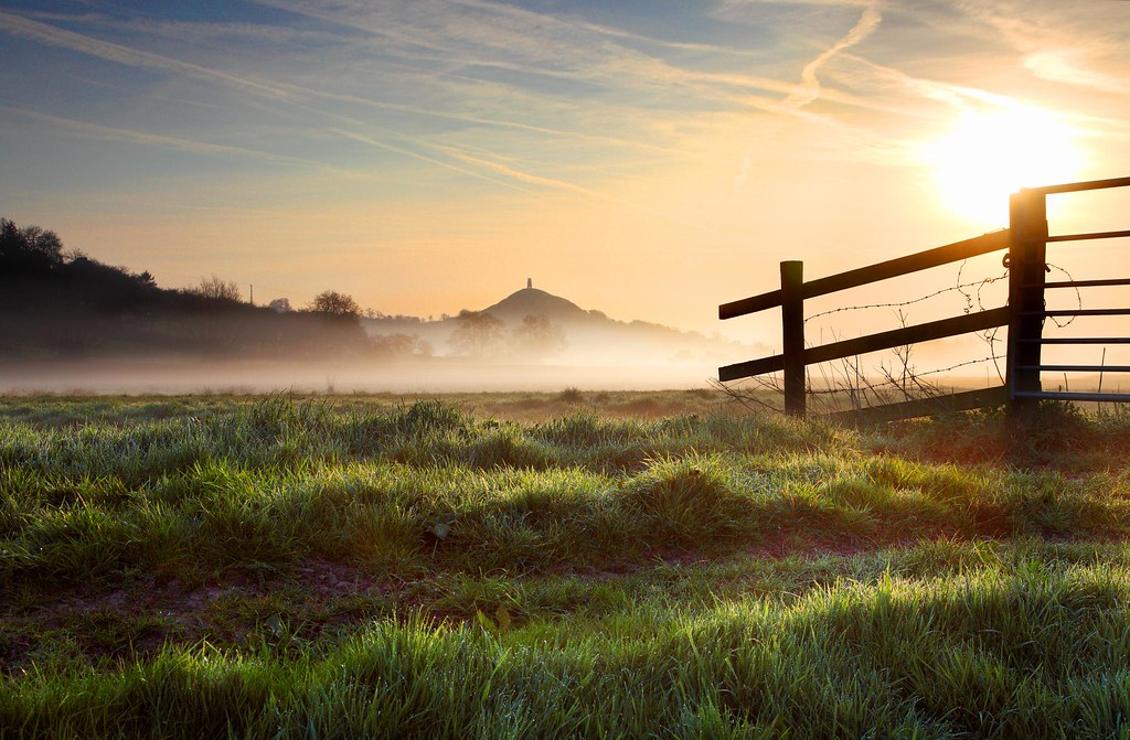 Glastonbury Tor Spring Dawn by Tony Armstrong-Sly