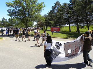 Protest against immigration laws and a call to remove Fort Snelling | by Fibonacci Blue