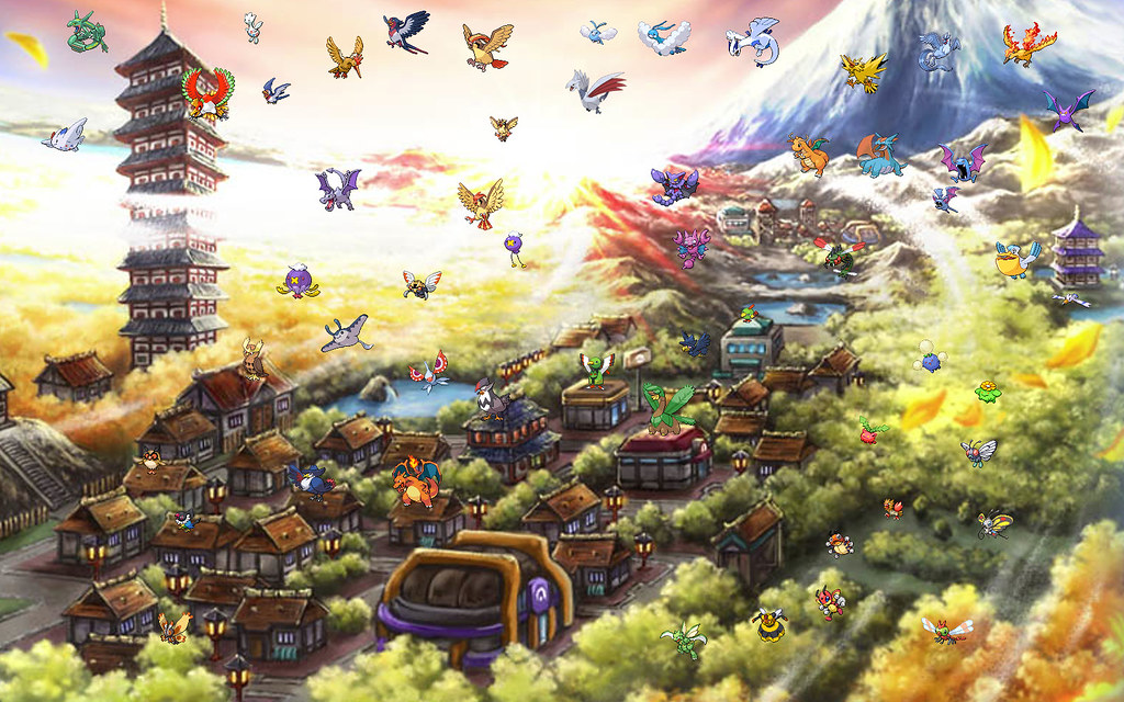 Pokemon Johto Phone Wallpaper
