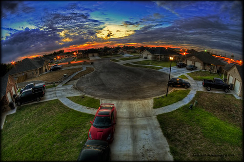 sunset texas hdr celica culdesac