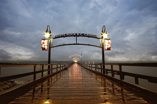 ocean canada storm wet water rain night vancouver clouds coast pier bc northwest columbia surrey british whiterock