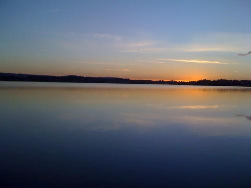 november ireland winter sunset lake galway evening loughrea