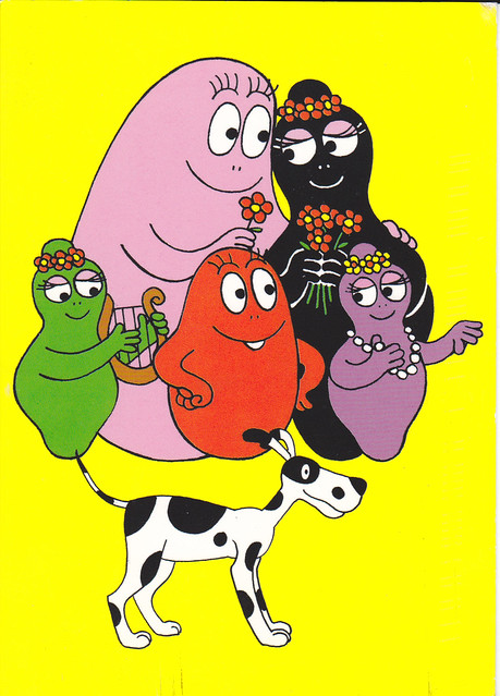Barbapapa Family Cartoon Postcard