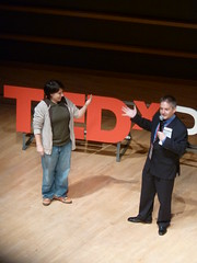 Zoe Strauss and Chris Bartlett at TEDxPhilly 2010
