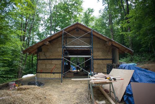 Grindbygg Timberframe Strawbale Workshop in Progress | by goingslowly