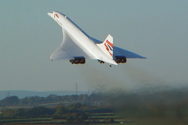 British Airways - Aérospatiale Concorde G-BOAC @ Cardiff