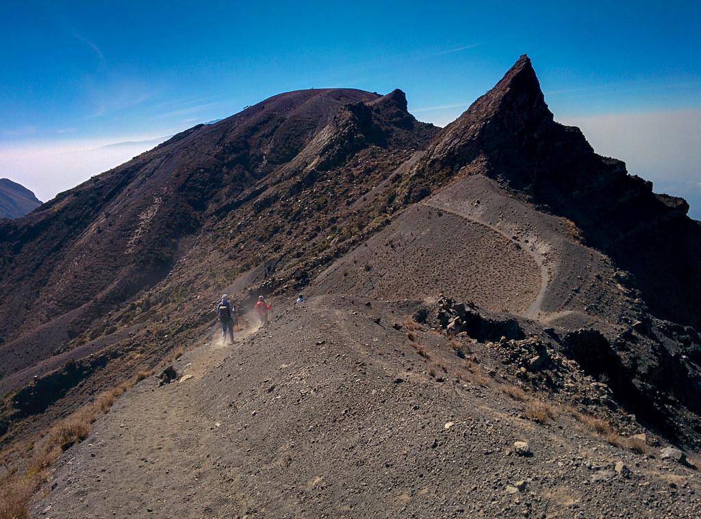 Abstieg vom Gipfel - 3. Tag Mount Meru Tour, 2016