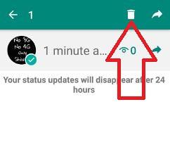Deleted Update Whatsapp Status Android Phone Use Whatsapp