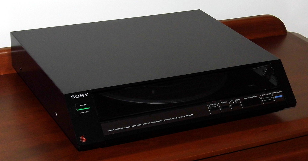 Vintage Sony Stereo Turntable System, Model PS-FL7II, Fron